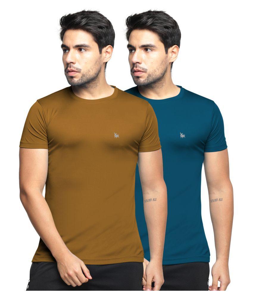 BULLMER Multi Polyester T-Shirt Pack of 2