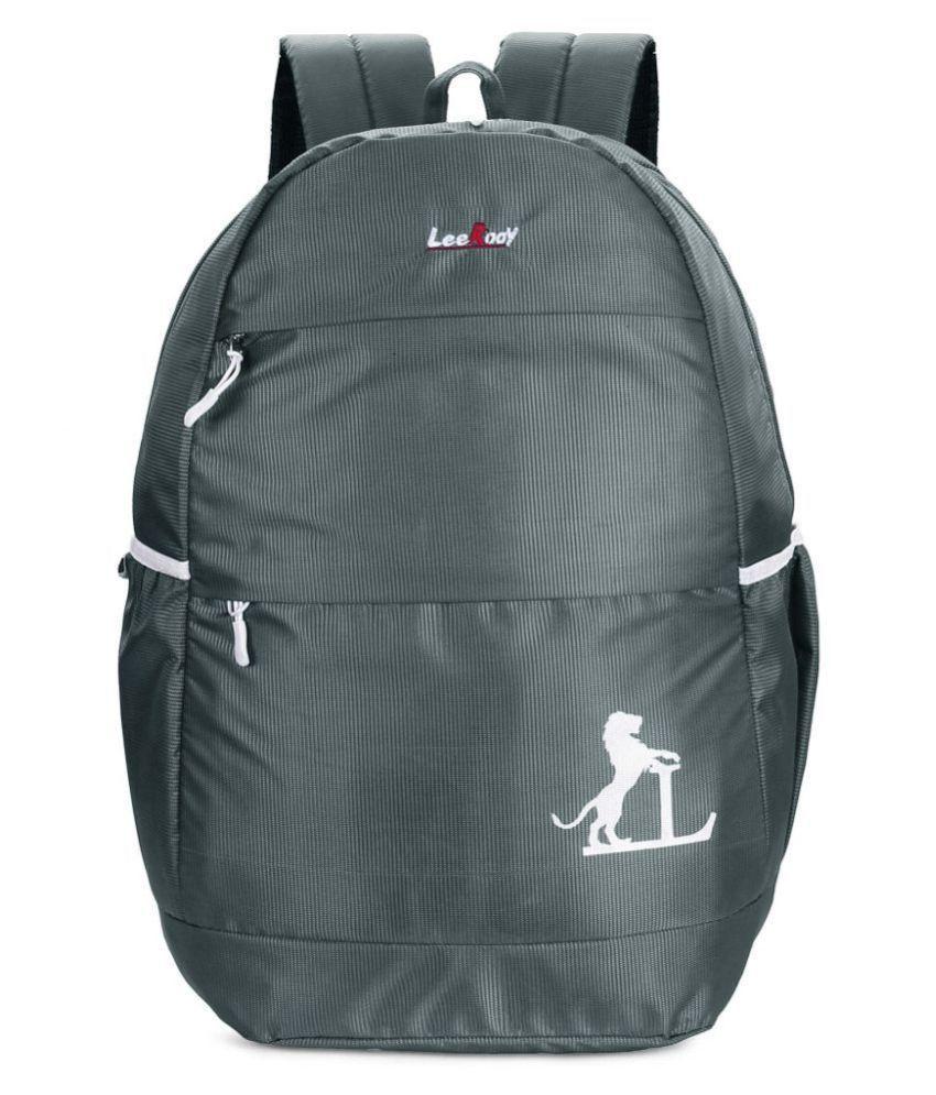 LeeRooy Grey Canvas College Bag