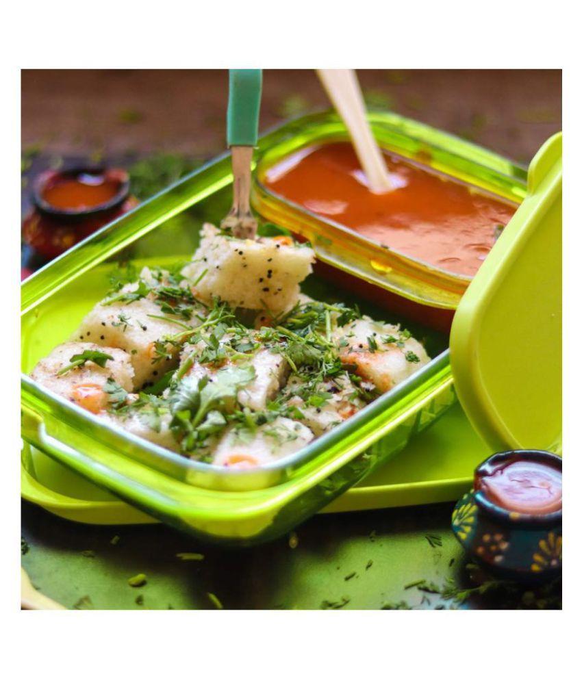 HACKURS Light Green Virgin Plastic Lunch Box