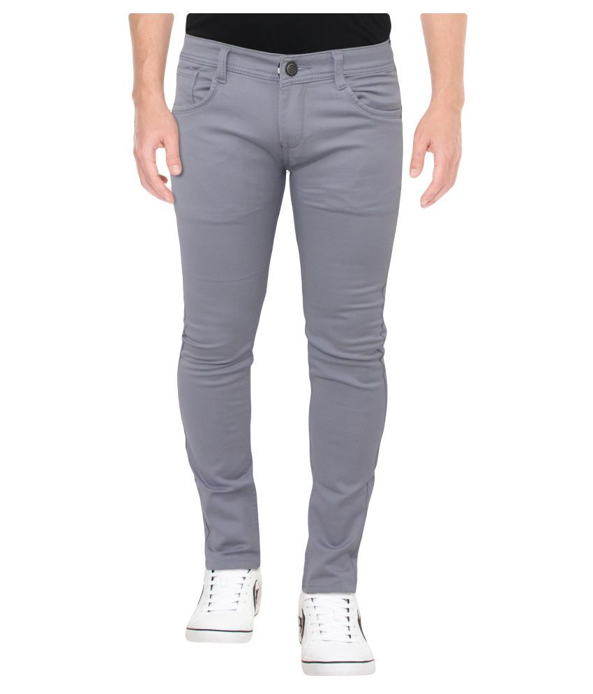 HYMEN LEGIONS Grey Regular -Fit Flat Chinos