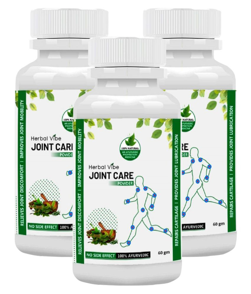 Herbal Vibe Joint Care 100% Ayurvedic for Joint Pain Powder 60 gm Pack of 3