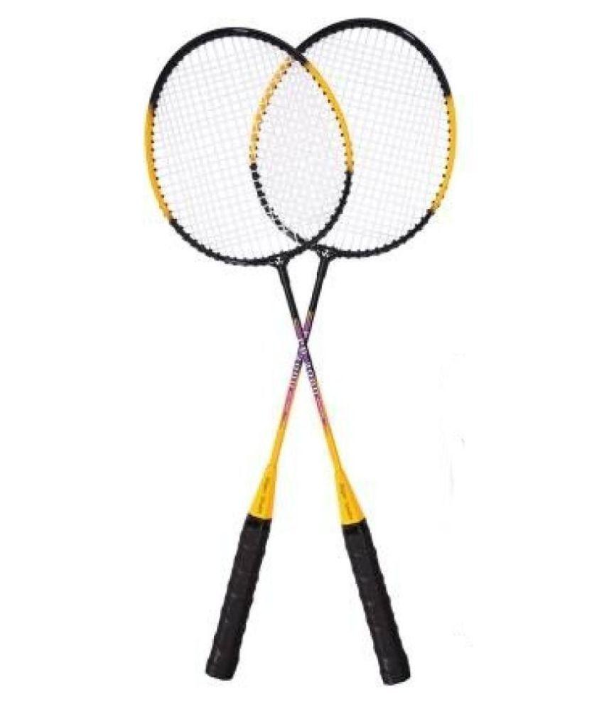 Sports Era Strung Badminton Badminton Raquet Green-Yellow