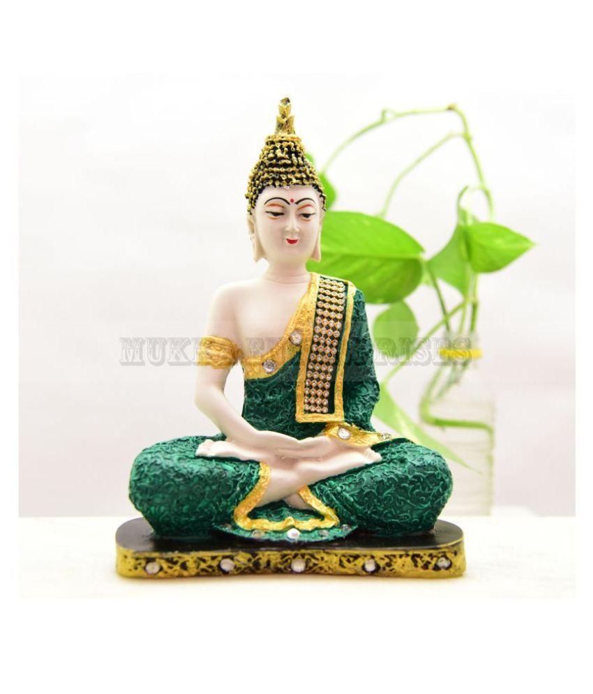 MUKKA ENTERPRISES BUDDHA Resin Buddha Idol 24 x 18 cms Pack of 1