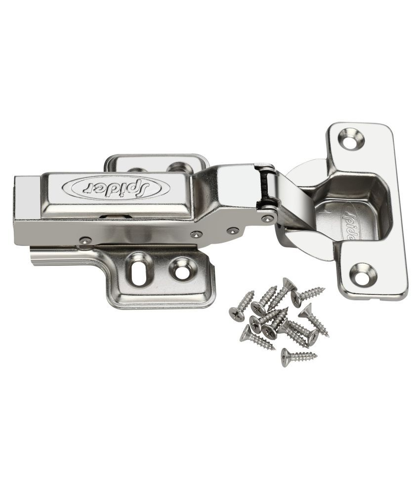 Spider Auto Concealed Hydraulic Soft Closing Hinges,HH888 - 8 Degree [ 4 Pair Pack ] (Half Overlay) , (HSN Code:83024110)