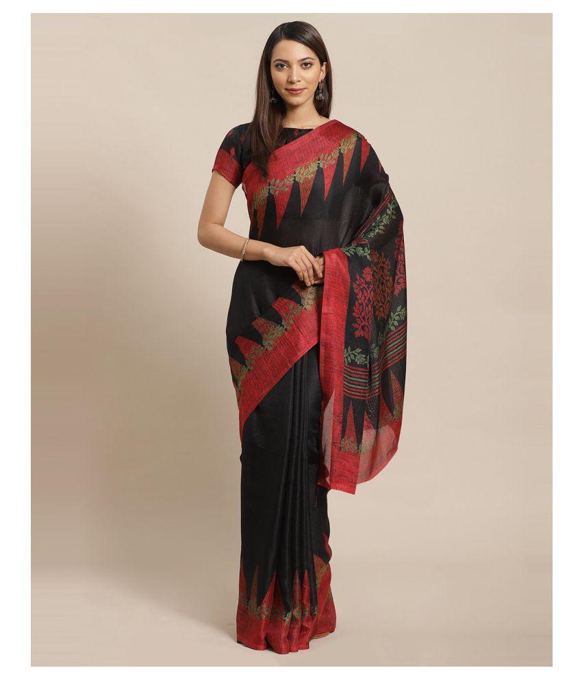 Sherine Black Silk Blend Saree
