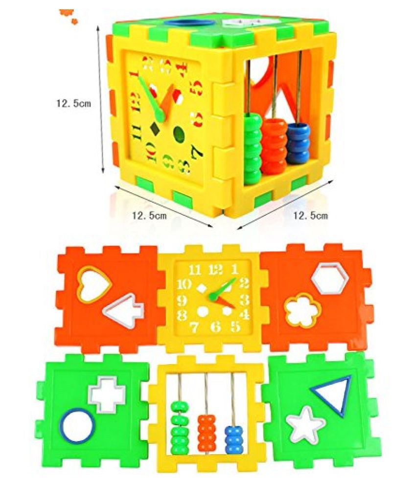 villy Educational All in ONE Blocks Set   Multi Skill: Colors, Counting, ABC, Maths, Clock, Blocks, Puzzle and Much More   Set of 2