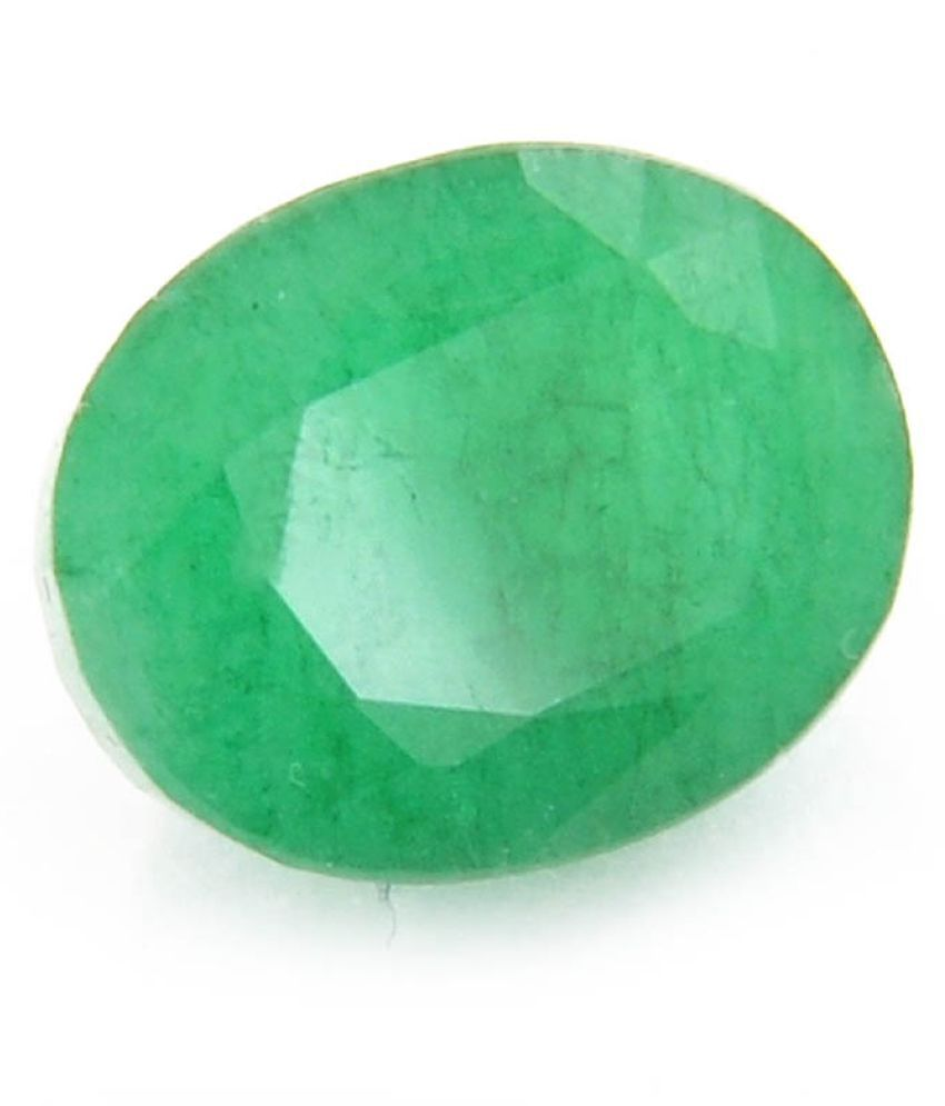 Gems Jewels Online Loose 5.90 Carat Certified Natural Colombian Emerald – Panna Stone