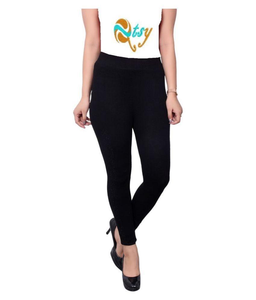 Eliq Dobby Jeans - Black