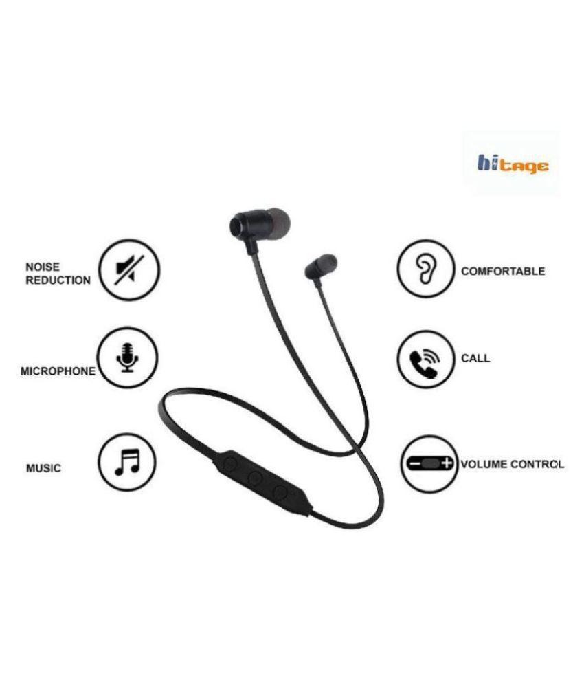 hitage Magnetic Bluetooth Sport  amp; Running Neckband Wireless With Mic Headphones/Earphones