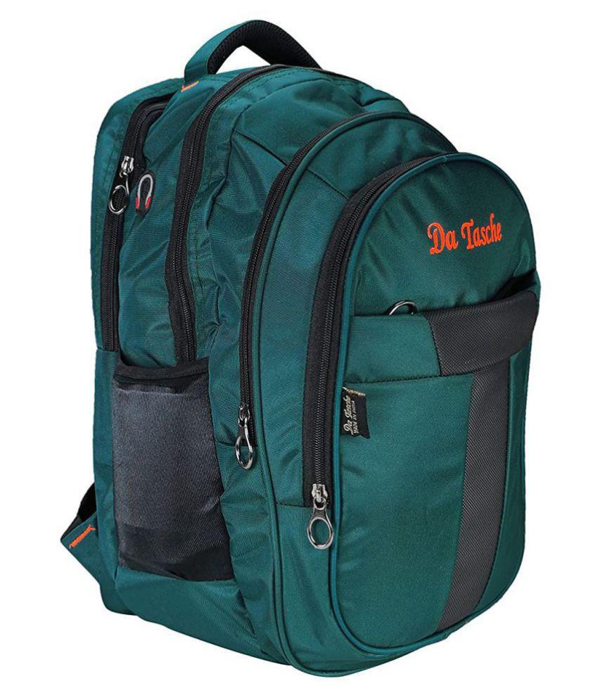Da Tasche Green Polyester College Bag