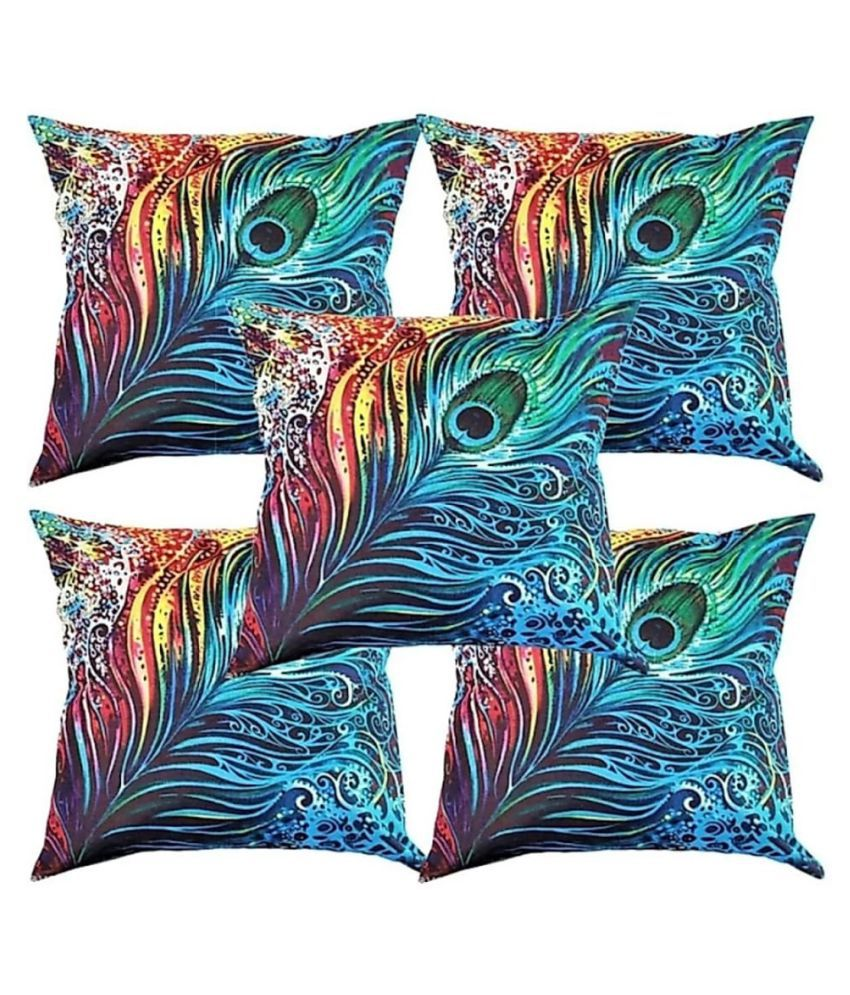Koli collections Set of 5 Polyester Cushion Covers 40X40 cm (16X16)