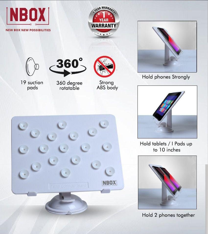 NBOX Multipurpose Desktop Phone Holder for iPad, Tablets- White