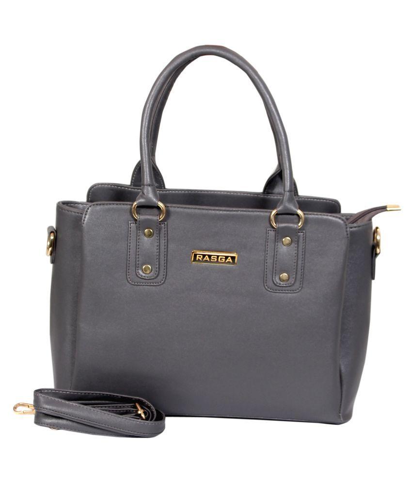 Rasga Gray P.U. Sling Bag