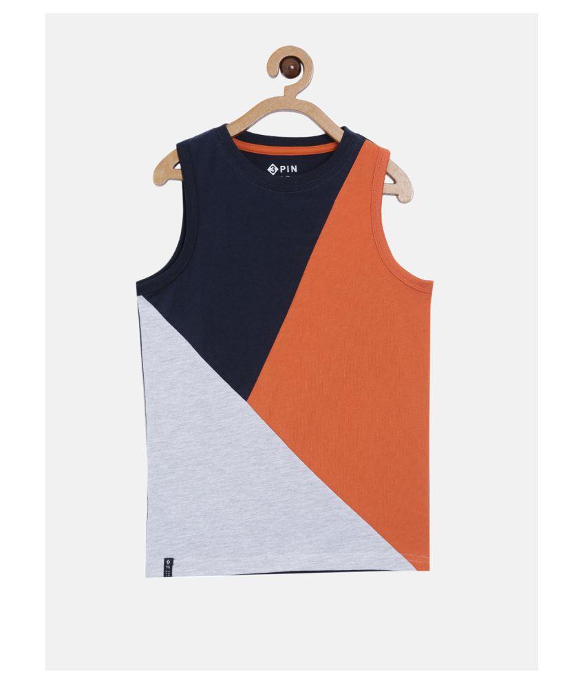 3PIN Sleeveless Multicolor T shirt