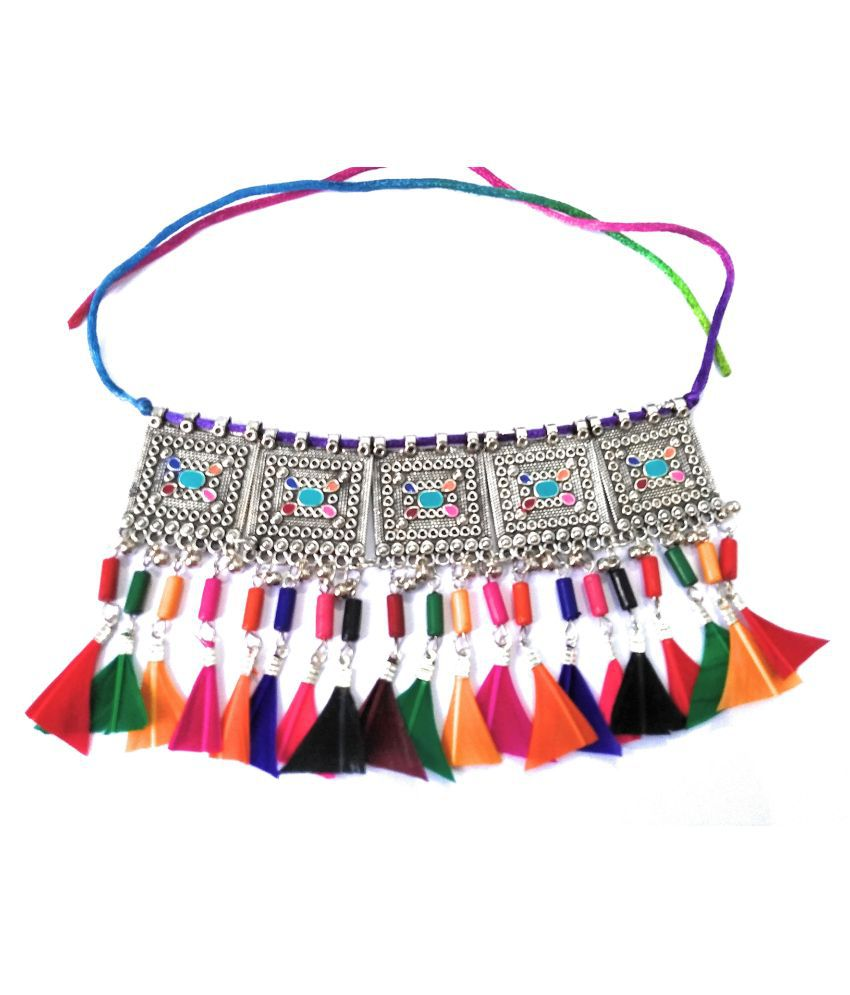 Darshini Designs Alloy Multi Color Contemporary/Fashion Necklace Choker