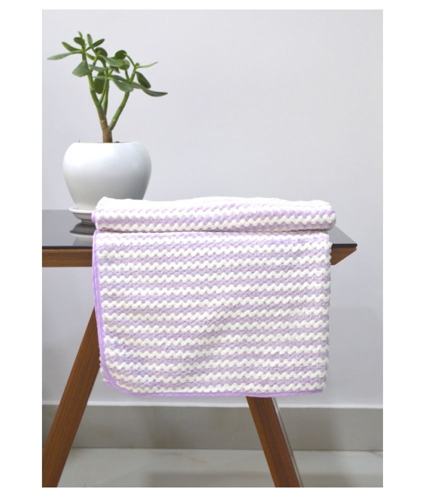 Tranquil Square Single Cotton Bath Towel Purple