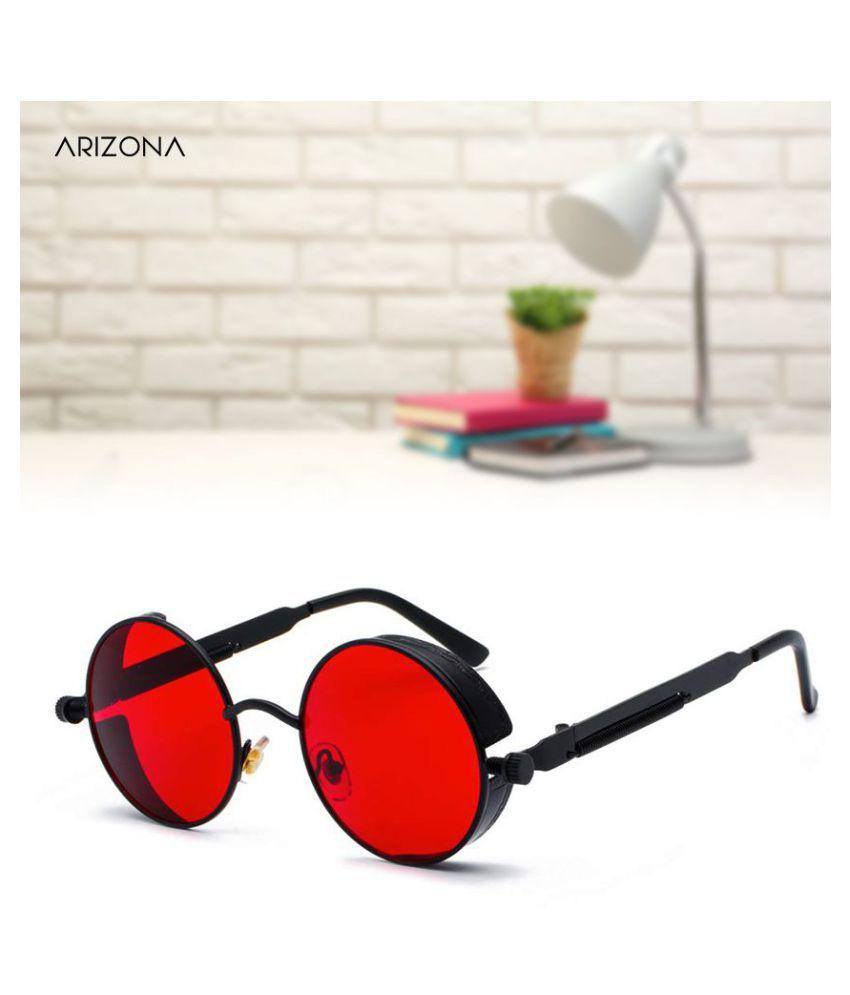 Arizona Sunglasses - Red Round Sunglasses ( 4001 )