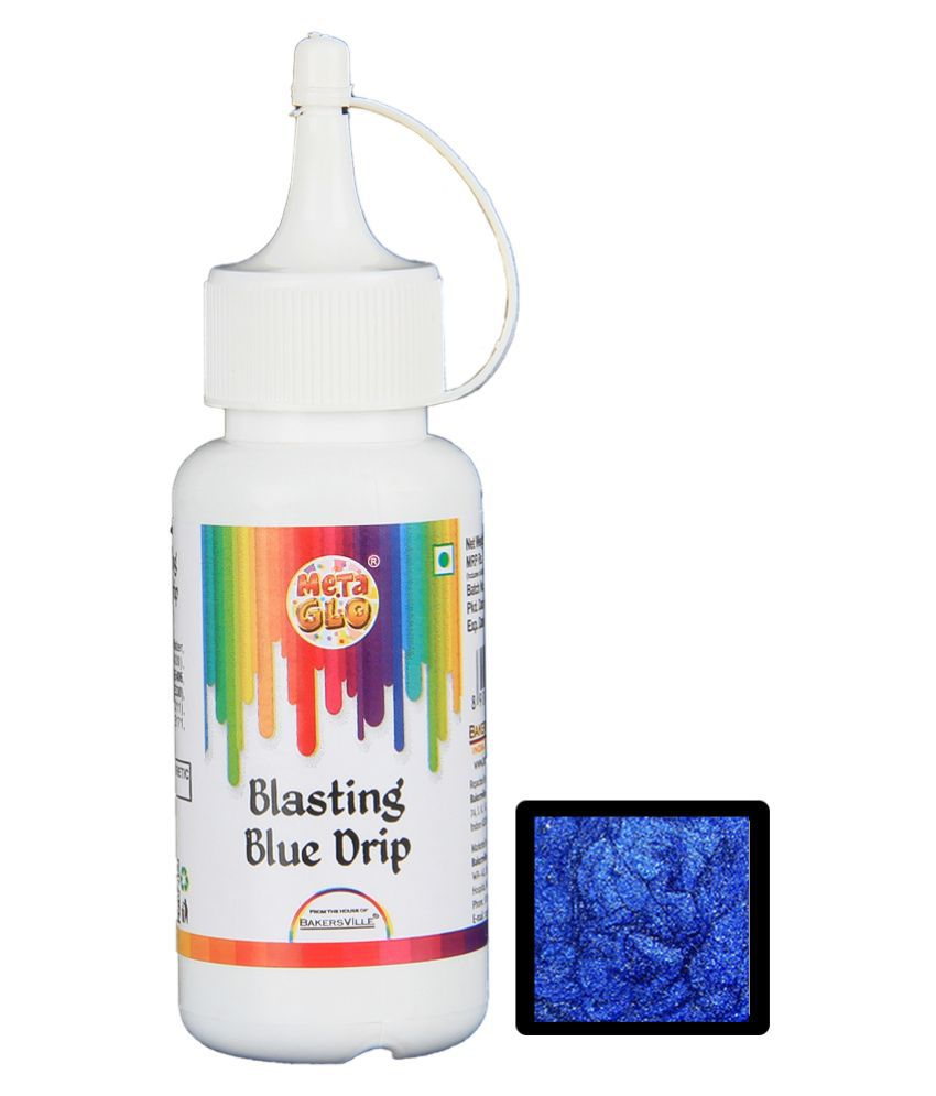 MetaGlo Drip Blasting Blue Edible Metallic Colour ( Blue ), 100 g