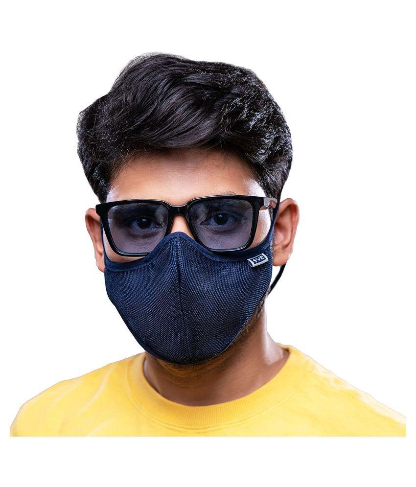 Smart Care Fog Free Face Mask Blue Large N95 Mask