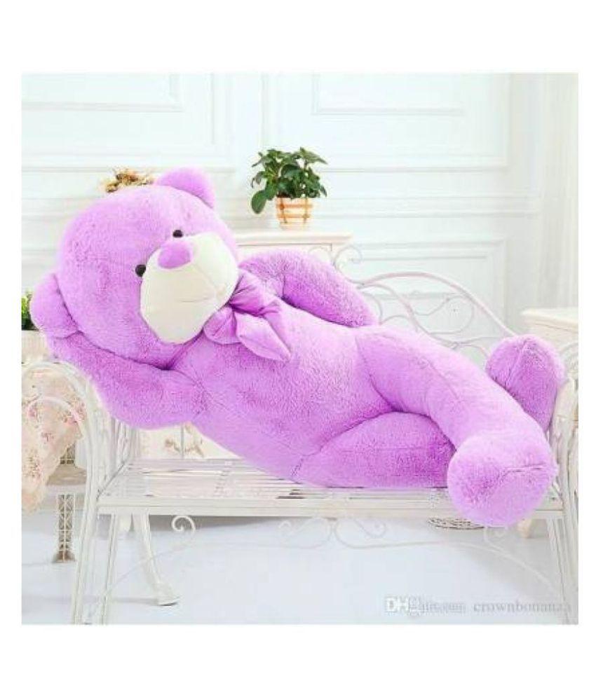 Teddy Bear 3 feet Long Huggable Soft Purple bear   91cm