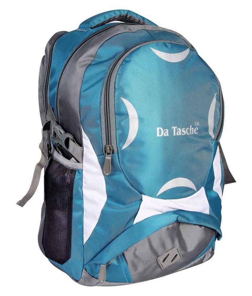Da Tasche Grey Polyester College Bag