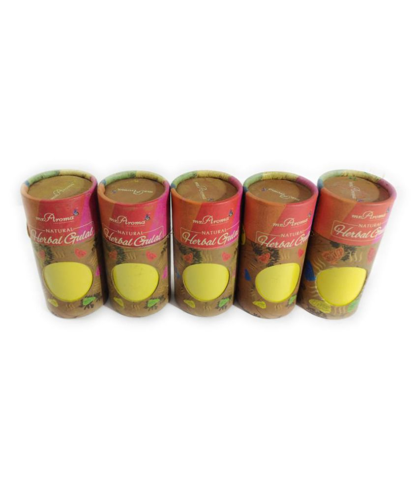 Mr. Aroma Organic Ingredients Holi Colours Yellow - Pack of 5