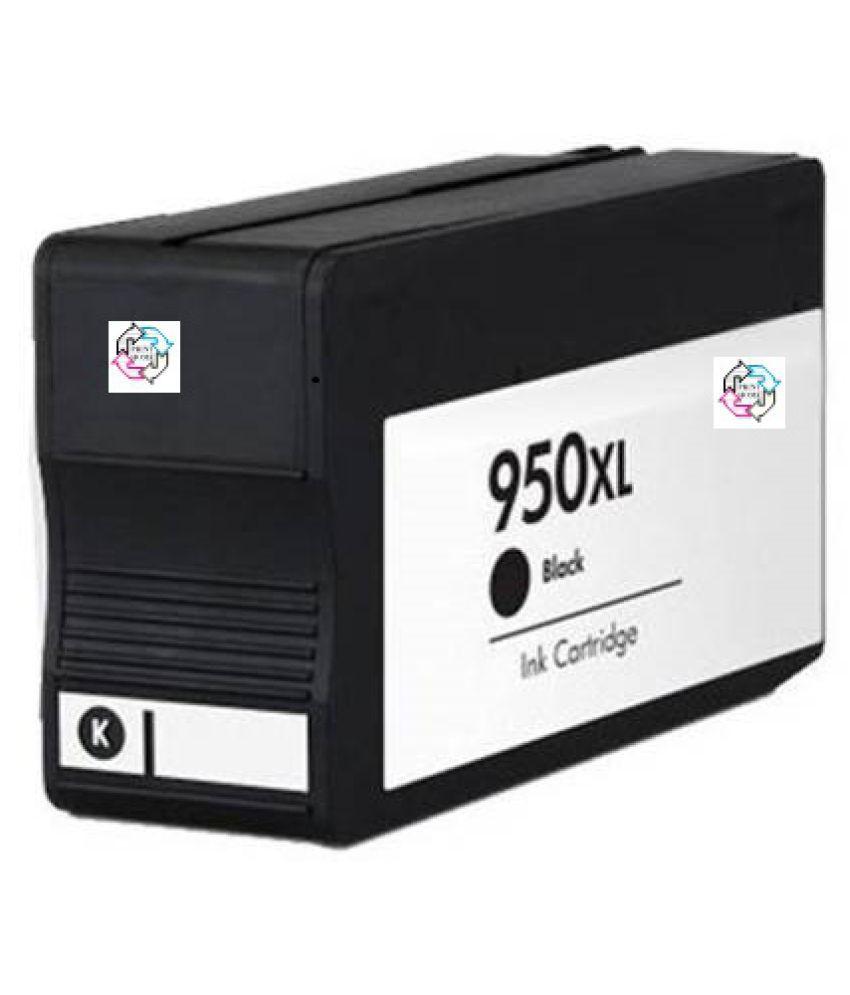 PRINT HOME 950XL BLACK Black Black only Cartridge for Officejet Pro 276dw ,8600 E, 8600 Plus ,8610,8620 ,251dw, 8100 , 8630