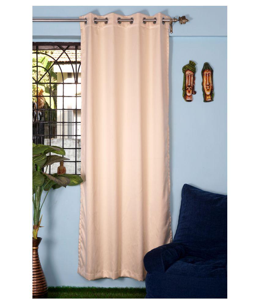 PardaOnline Single Window Blackout Room Darkening Eyelet Polyester Curtains Beige