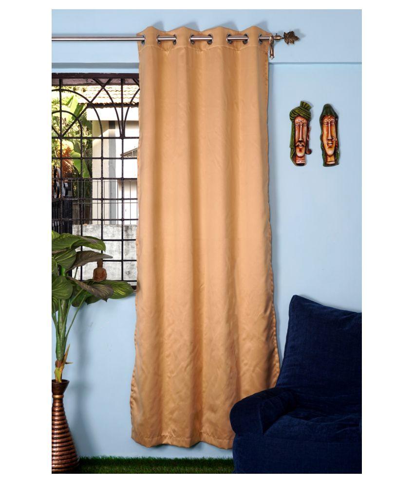 PardaOnline Single Window Blackout Room Darkening Eyelet Polyester Curtains Assorted