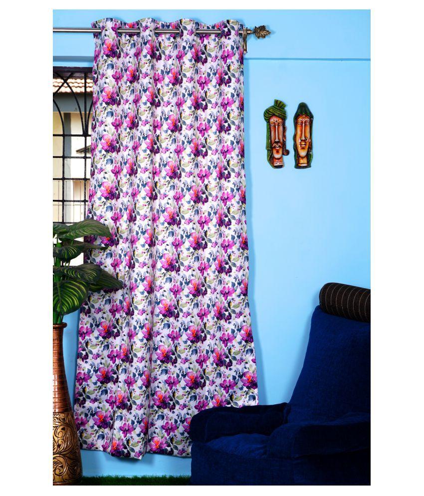 PardaOnline Single Window Blackout Room Darkening Eyelet Polyester Curtains Pink