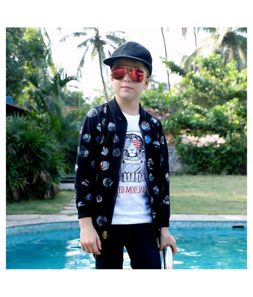 MashUp stylish printed Bomber jacket set for Young boys
