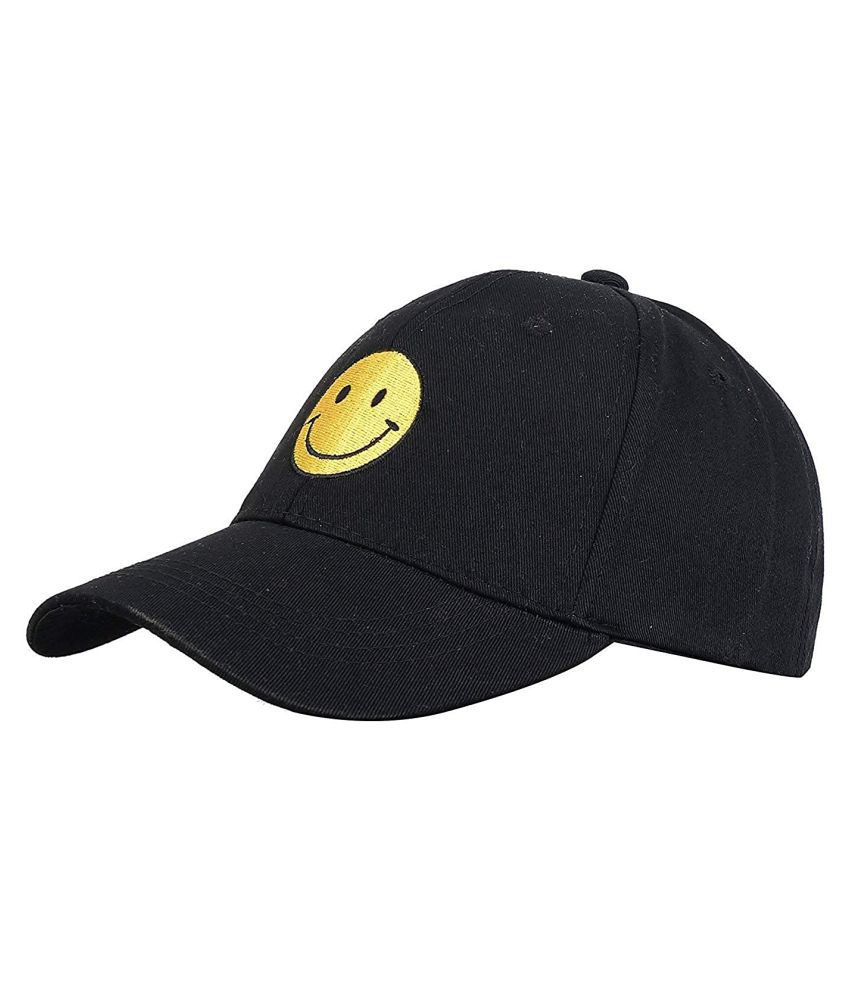 Hash Bhush Black Printed Cotton Caps