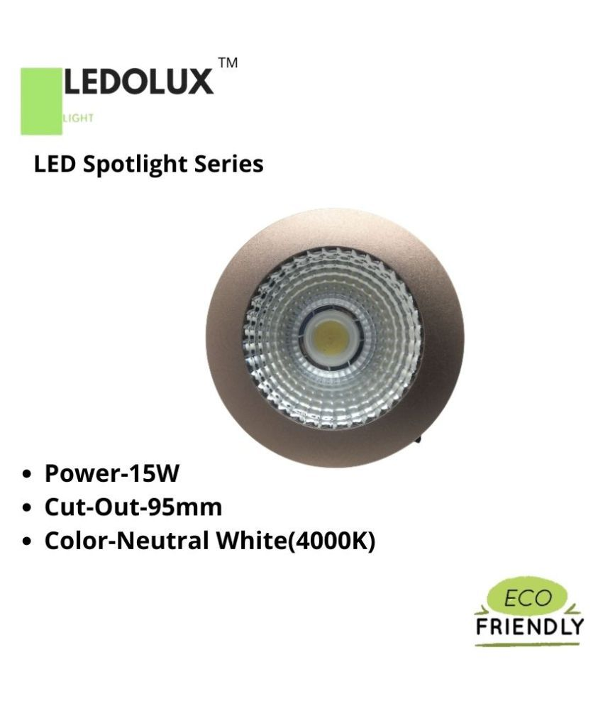 LEDOLUX 15W Round Ceiling Light 10 cms. - Pack of 1