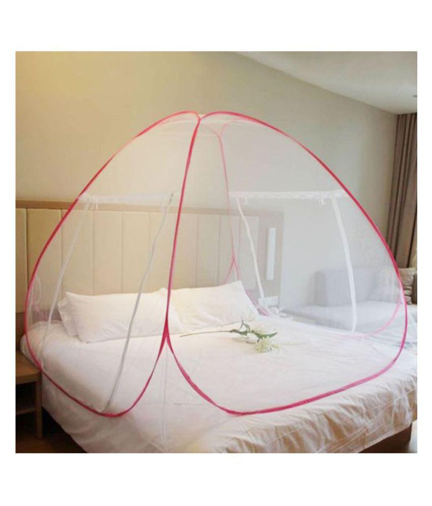 N M CREATION King White Mosquito Net