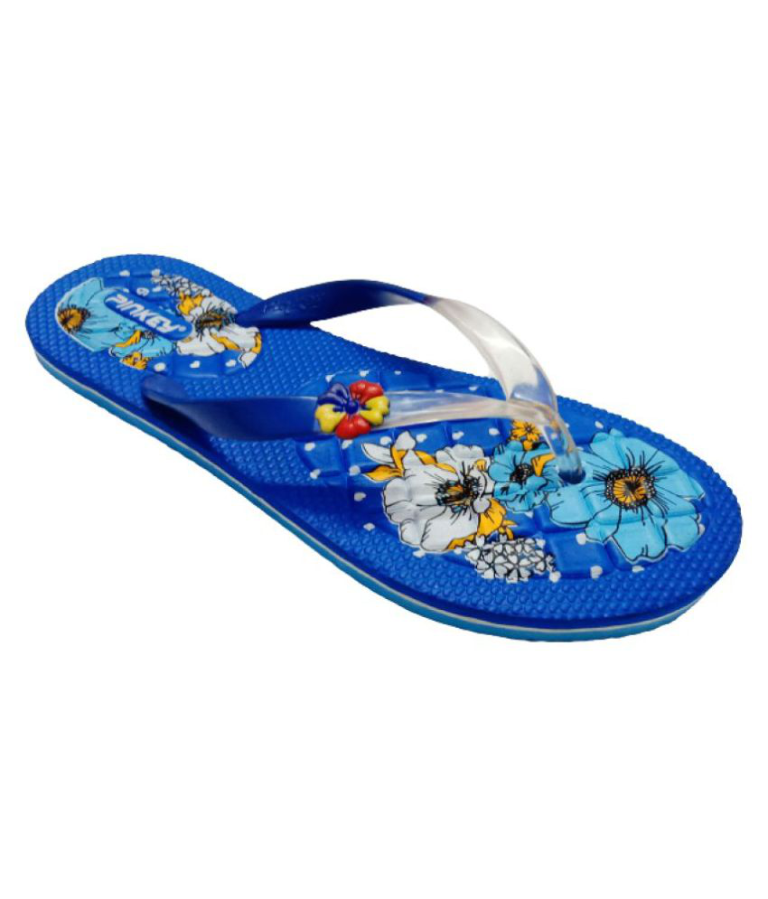 Pinkey Blue Slippers