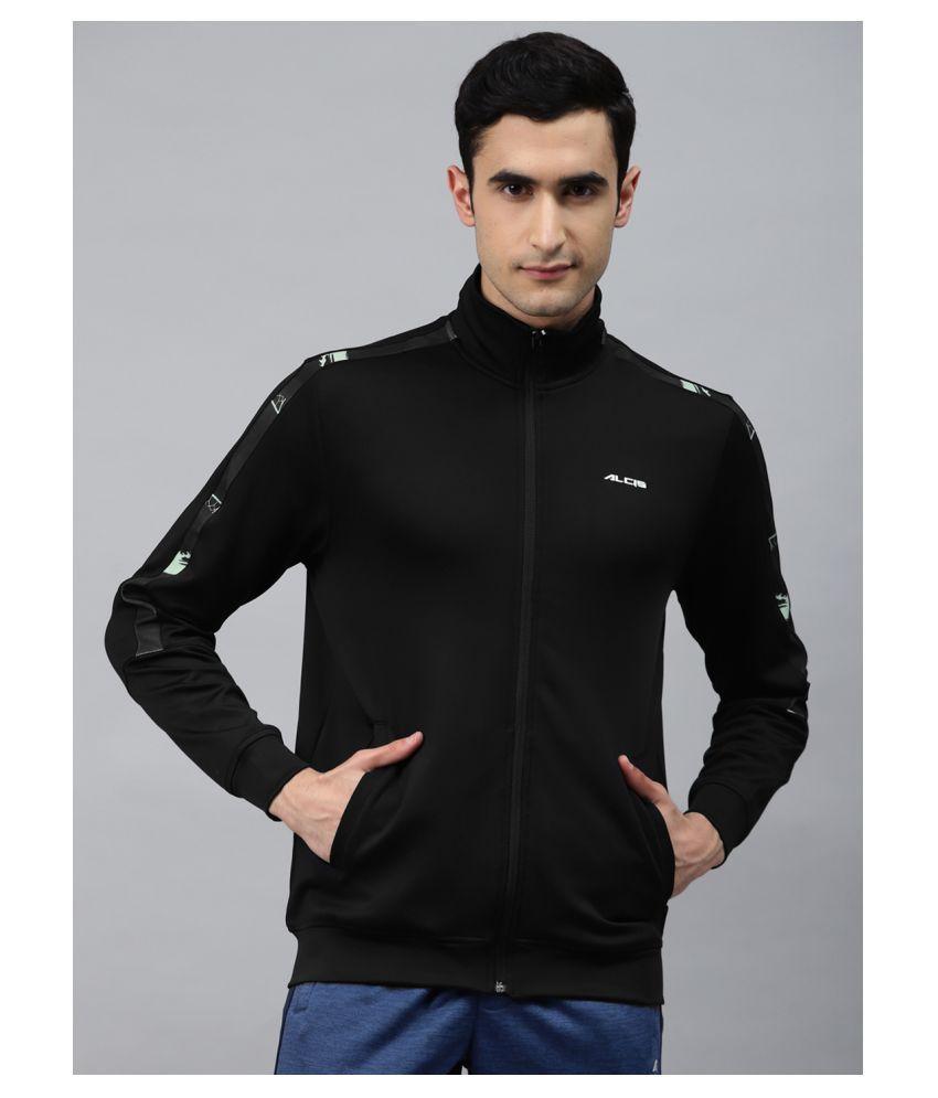 Alcis Black Polyester Sweatshirt