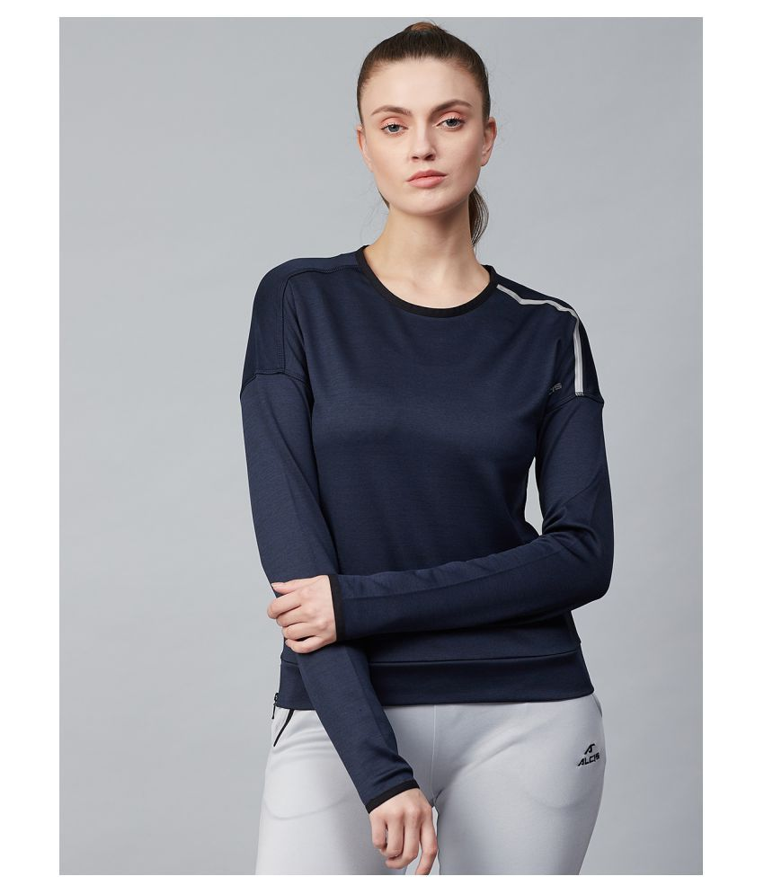 Alcis Blue Polyester Pullover