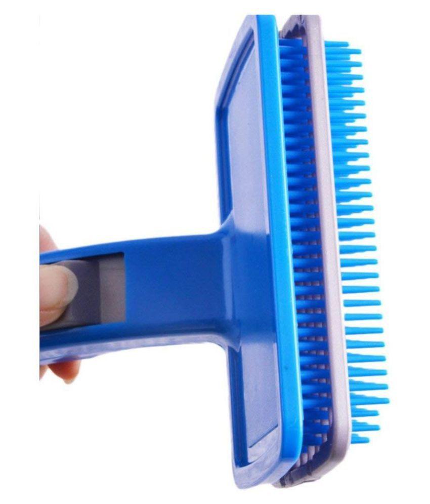 KOKIWOOWOO Self Cleaning Plastic Slicker Dog Grooming Brush with Press Key