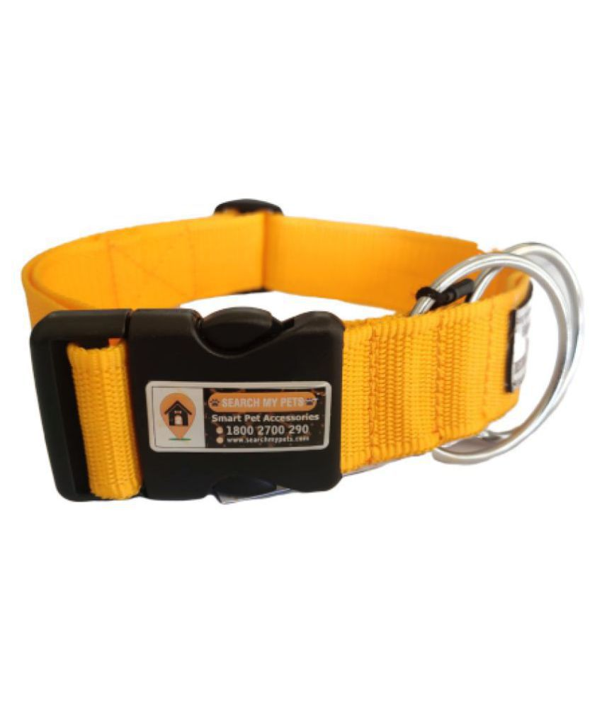 Anti-Lost Dog's Collar, Best Comfortable Yellow Color Pet Collar