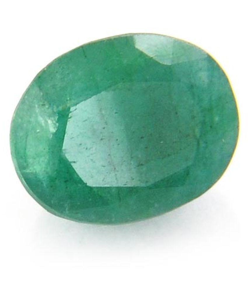 Oneshivagems 5.25 Ratti Certified Natural Colombia Green Emerald Gemstone