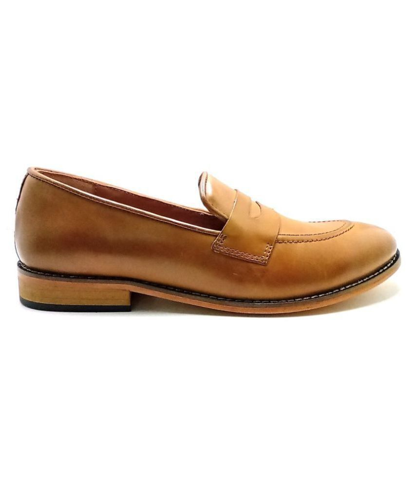 Shoemantra Style Office Genuine Leather Tan Formal Shoes