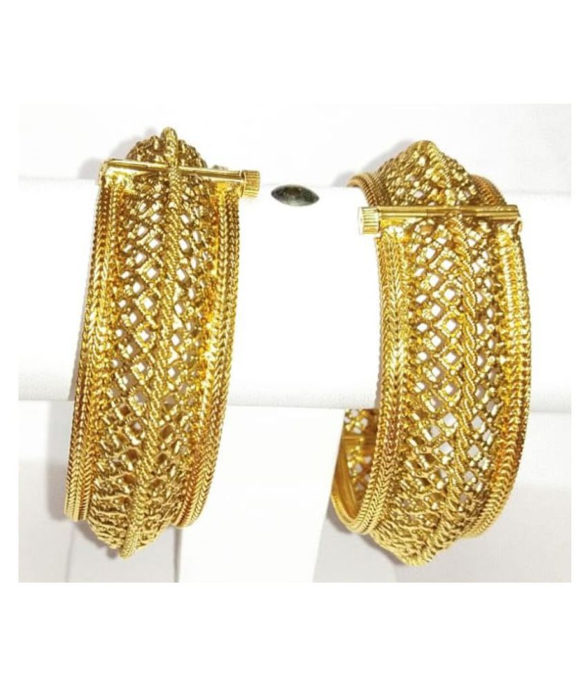 CARVED BANGLES IN GOLD