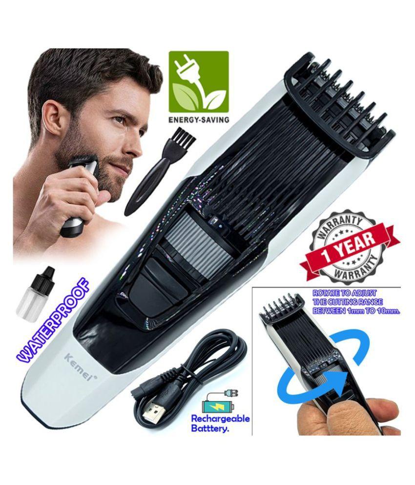 GBM USB Charging 0 Trim Beard Mustache Trimmer Hair Clipper Razor 1mm to 10mm Combo