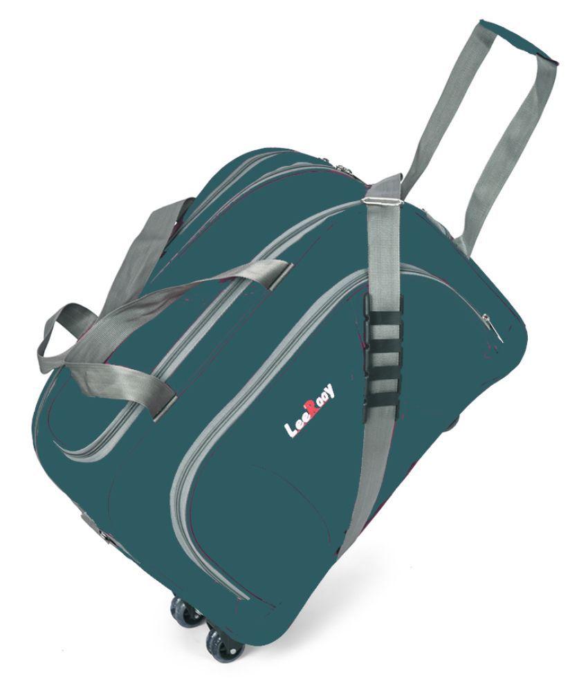 LeeRooy Green Solid M Duffle Bag