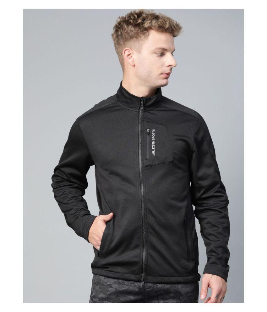 Alcis Black Polyester Jacket Single Pack