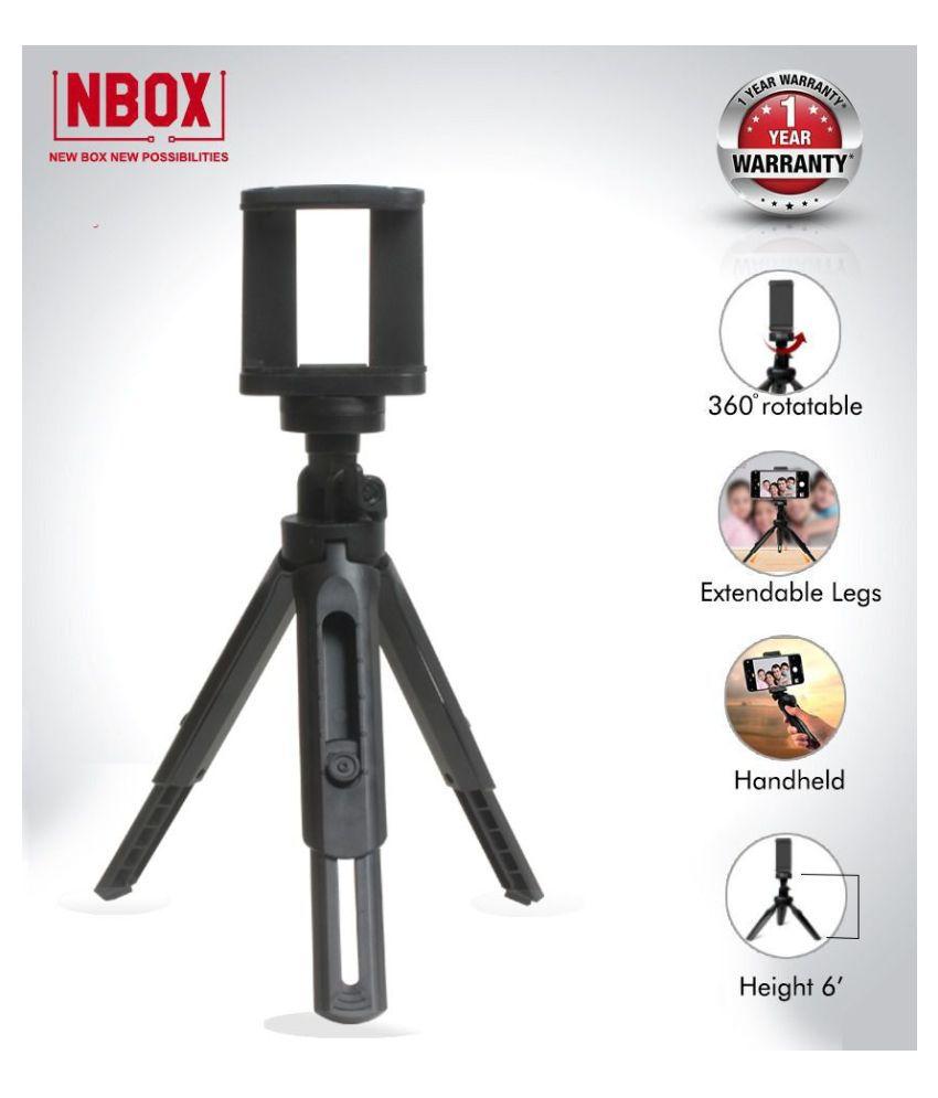 NBOX Mini Tripod 360 Degree Rotation Foldable Shockproof Lightweight Bracket for Mobile Phones & DSLR