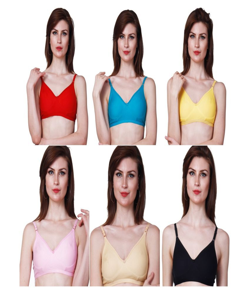 Nutex Sangini Cotton T-Shirt Bra - Multi Color