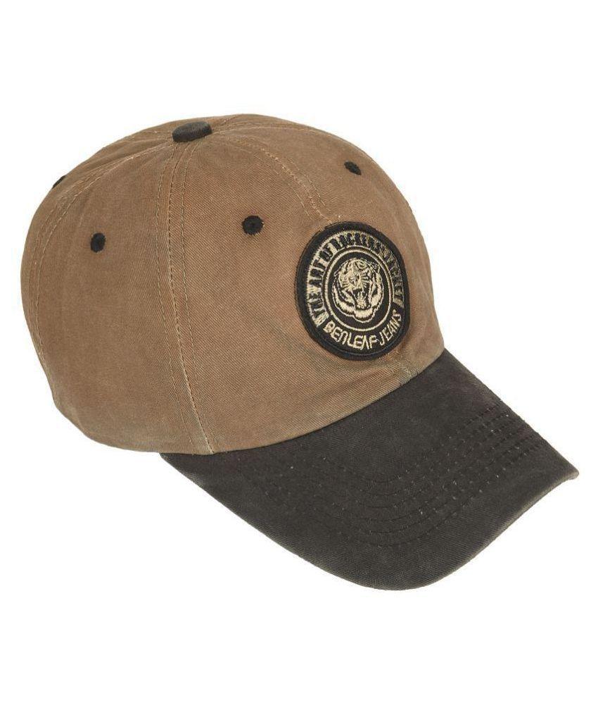 DRUNKEN Men's Washed Cotton Baseball Cap Khaki Freesize