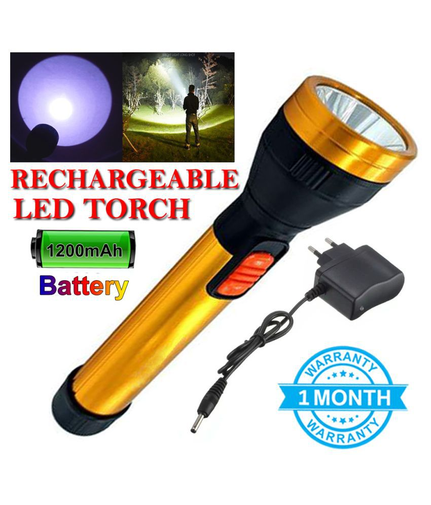 DT 600 Meter Long Range 2 Mode Rechargeable Torch 20 W Flashlight Torch 20W Flashlight Torch - Pack of 1