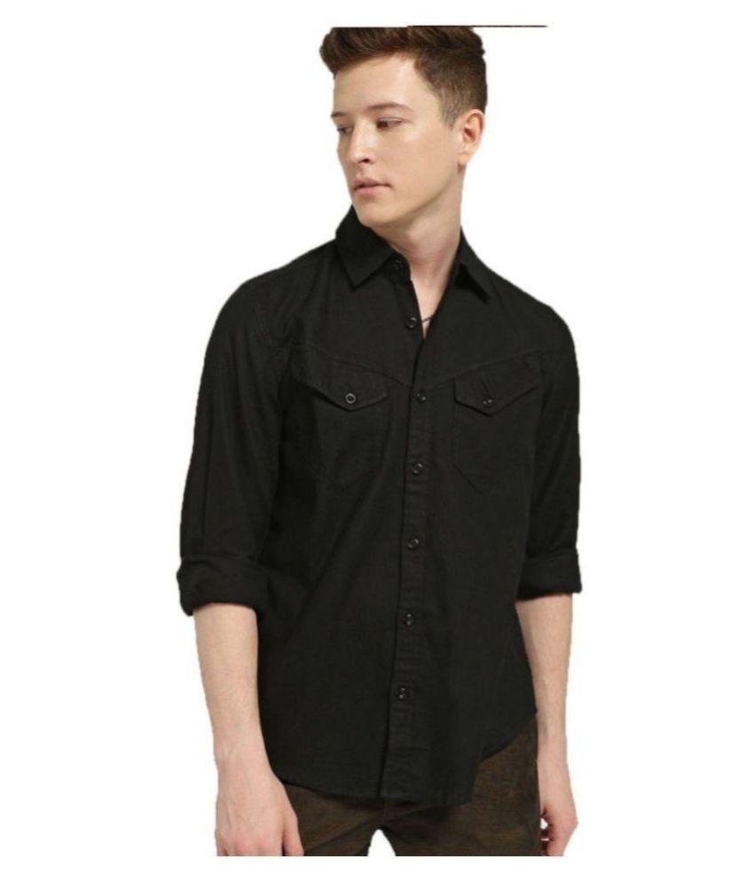LION & HESS 100 Percent Cotton Black Shirt